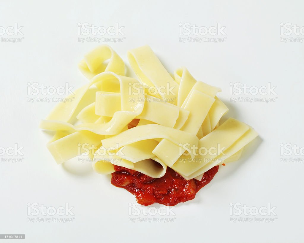 tagliatelle and bolognese sauce royalty-free stock photo