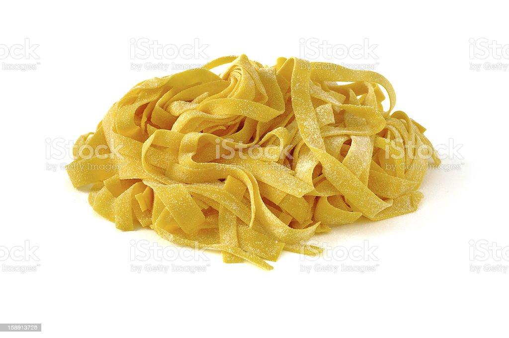 Tagliatelle, italian egg pasta royalty-free stock photo