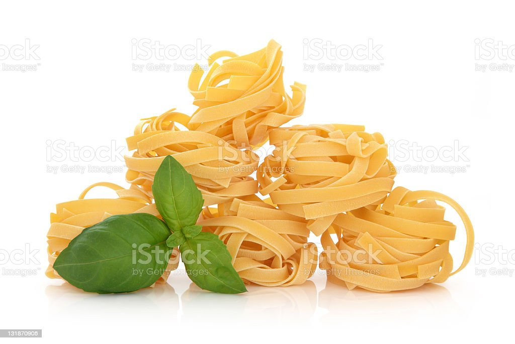 Tagliatelle Pasta stock photo