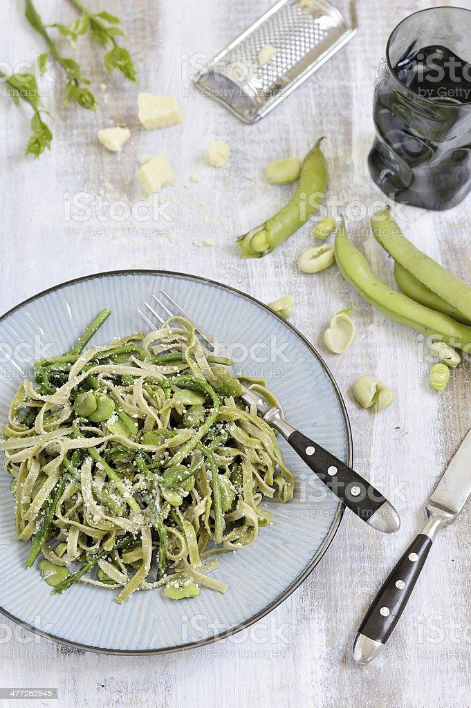 Tagliatelle pasta. royalty-free stock photo