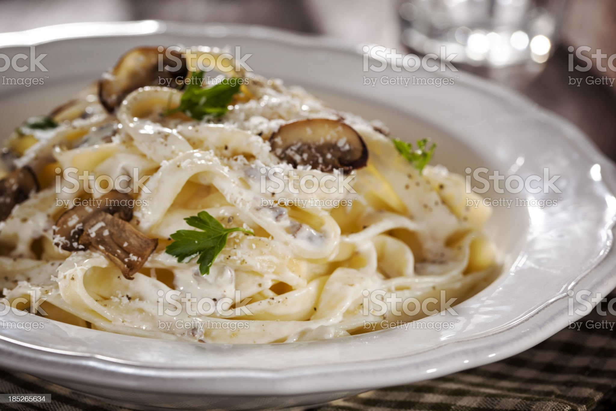 Tagliatelle with Mushrooms royalty-free stock photo