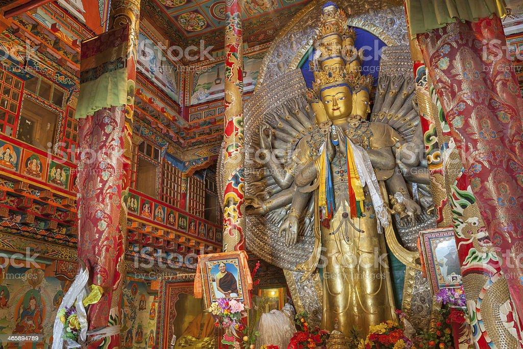 Tagong Monastery interior. royalty-free stock photo