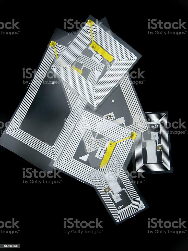 RFID tags stock photo