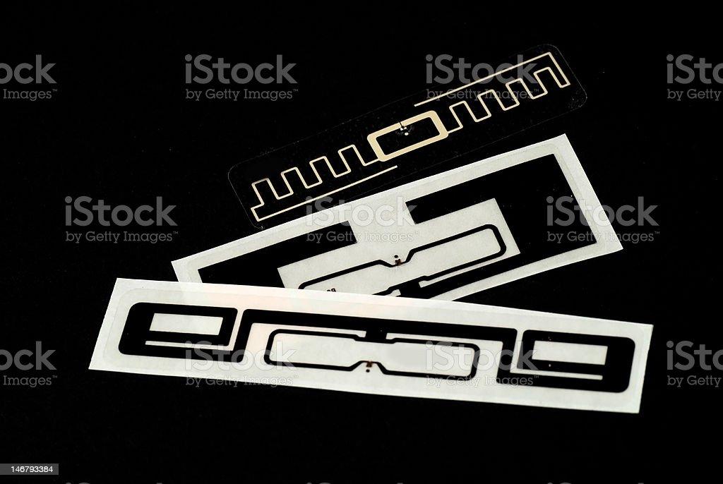 RFID tags royalty-free stock photo