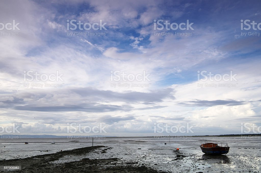 Tagus River at Low Tide stock photo