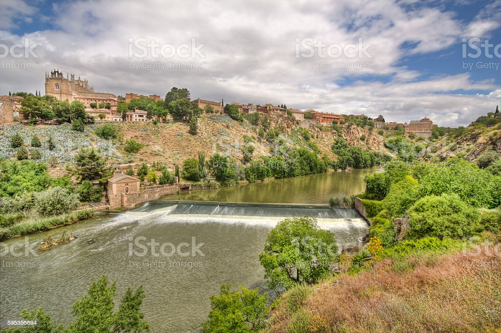 Tagus river at Toledo, Spain stock photo