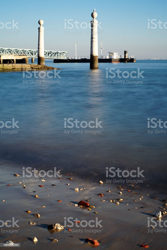 Tagus River in Lisbon stock photo