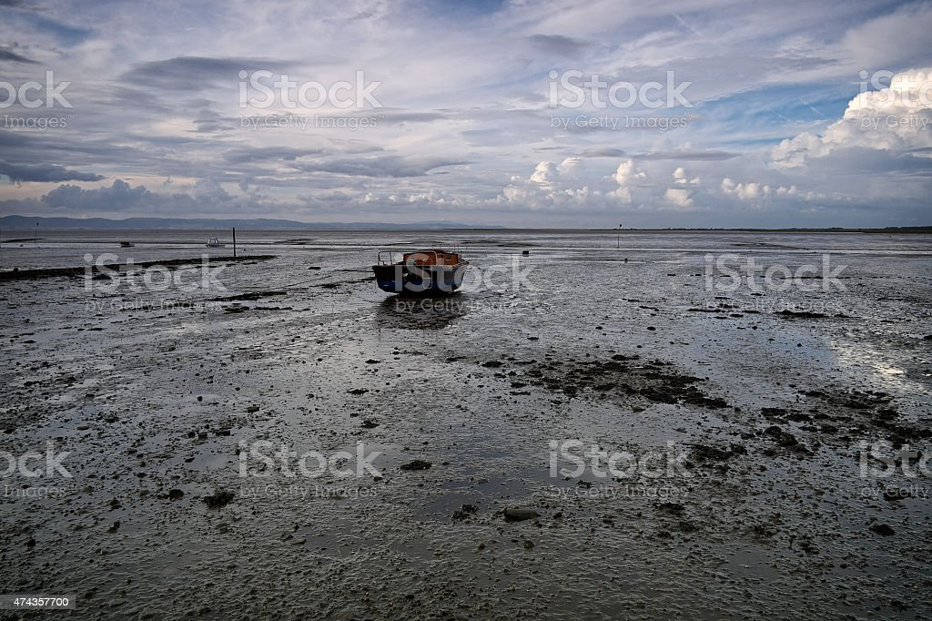 Tagus River in Portugal stock photo