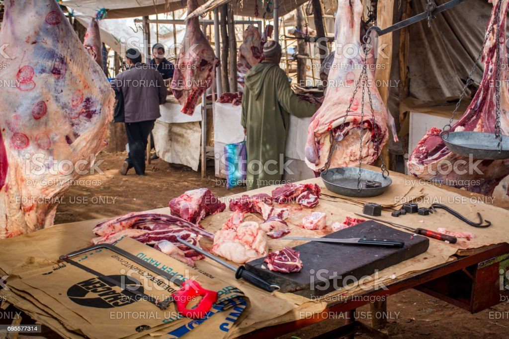 Tahannoute's 'Tuesday Market' on Road to Marrakesh stock photo