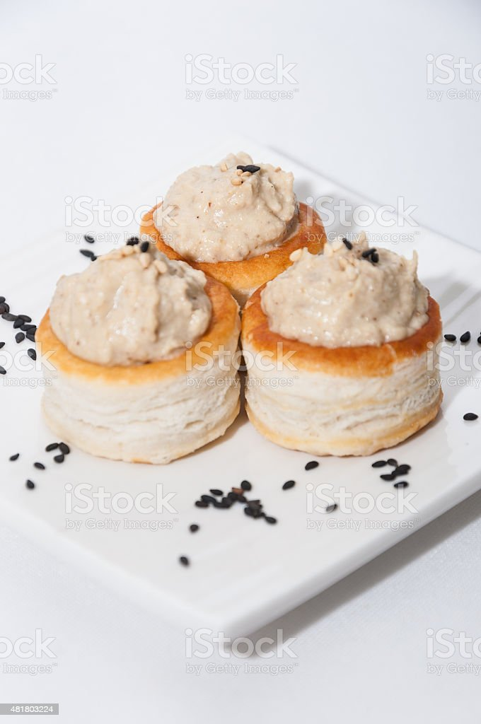 Tahini appetizer stock photo