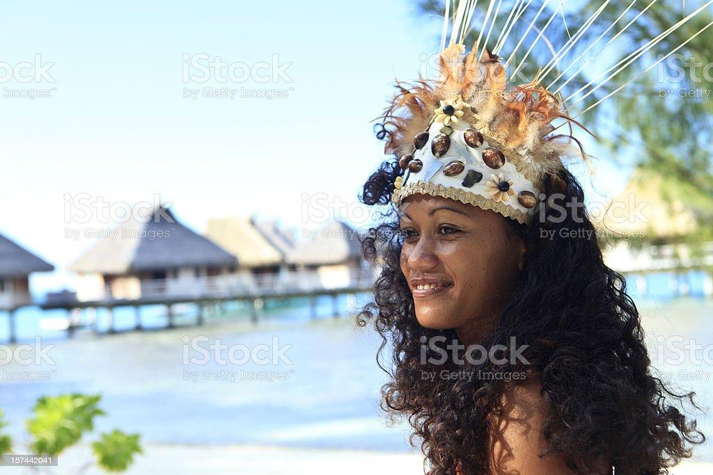 Tahiti - dancer stock photo