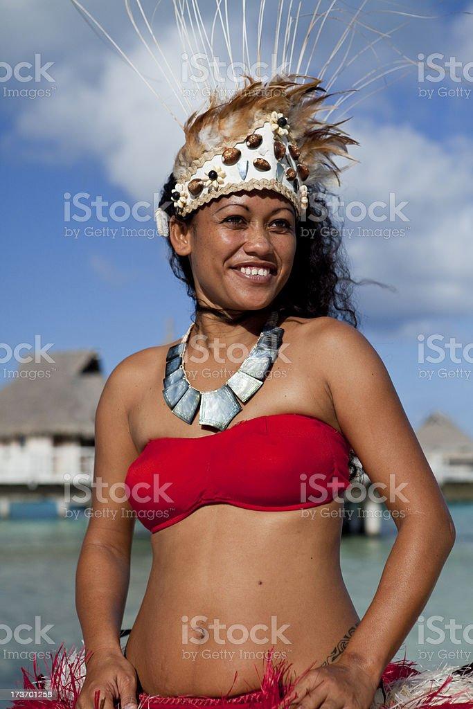Tahiti dancer royalty-free stock photo