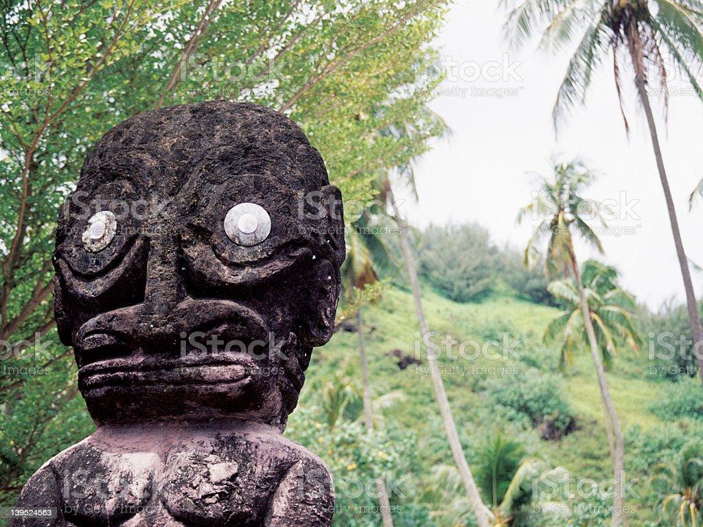 Tahiti Statue stock photo