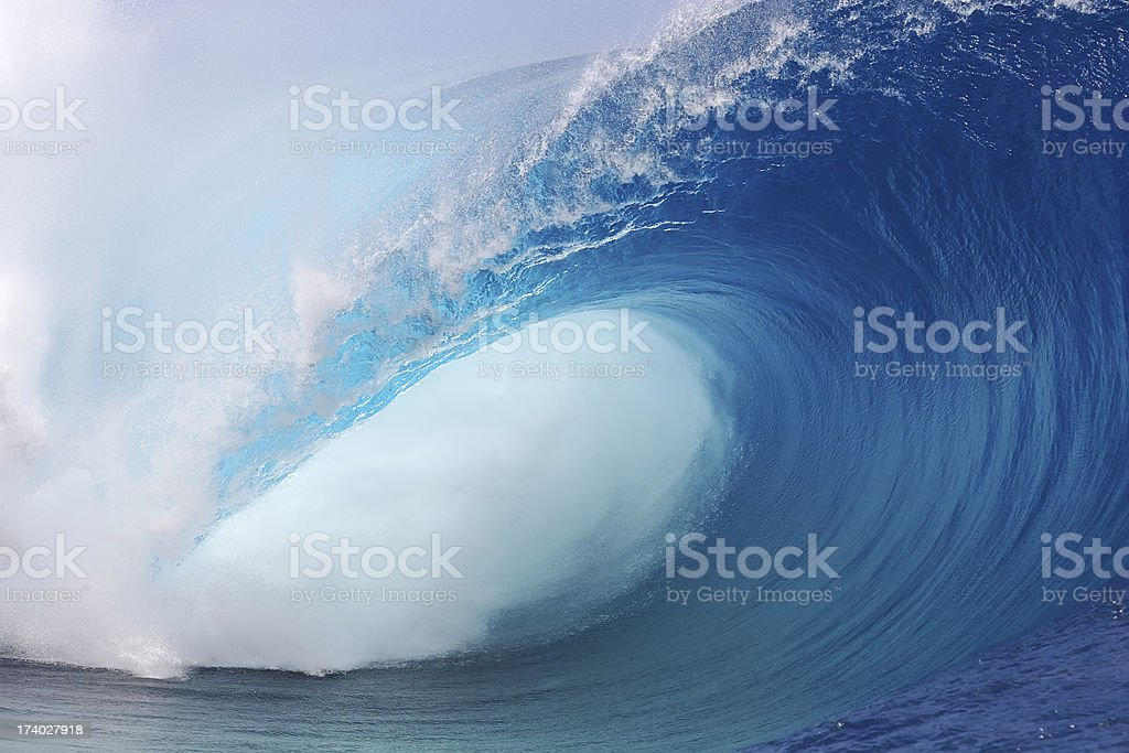 Tahiti Wave stock photo