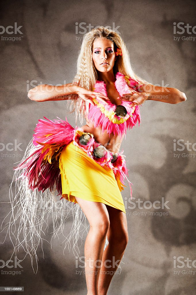 Tahitian Dance royalty-free stock photo