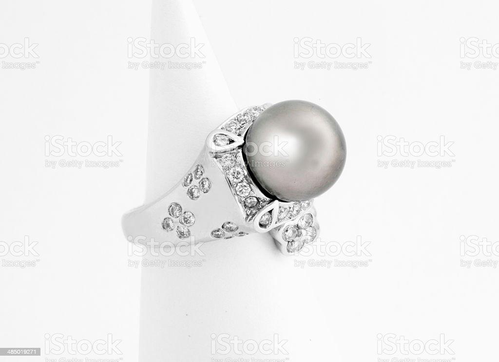 Tahitian Pearl Rings royalty-free stock photo