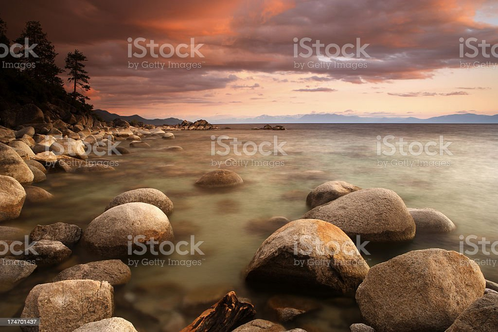 Tahoe Twilight stock photo