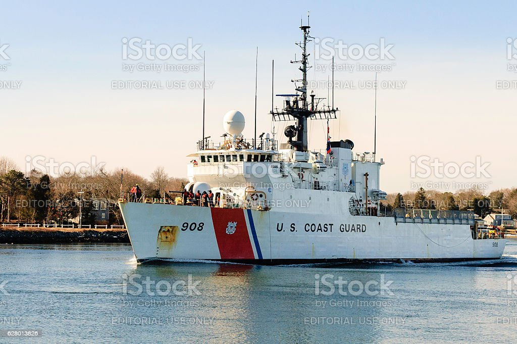 USCGC Tahoma in Cape Cod Canal stock photo