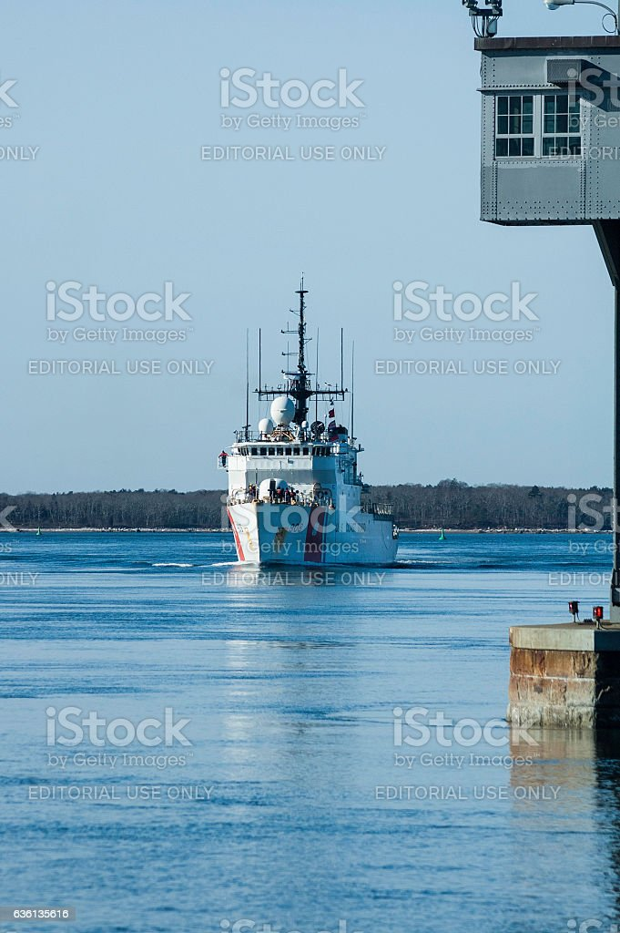 USCGC Tahoma (908) in Cape Cod Canal stock photo
