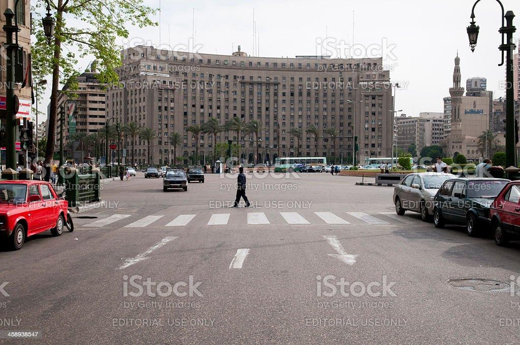 Tahrir Square and the Mugamma in Cairo, Egypt stock photo