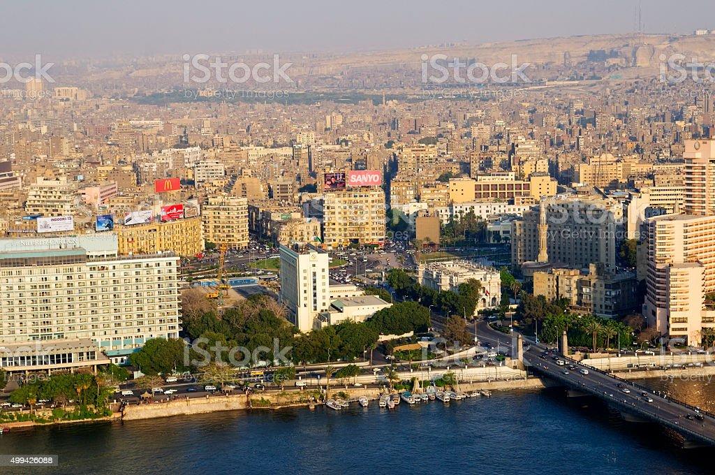 Tahrir Square in Cairo, Egypt stock photo