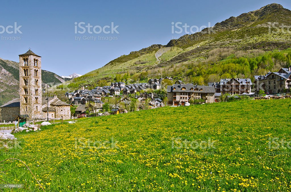 Tahull village in Valley of Boi in Catalonia stock photo
