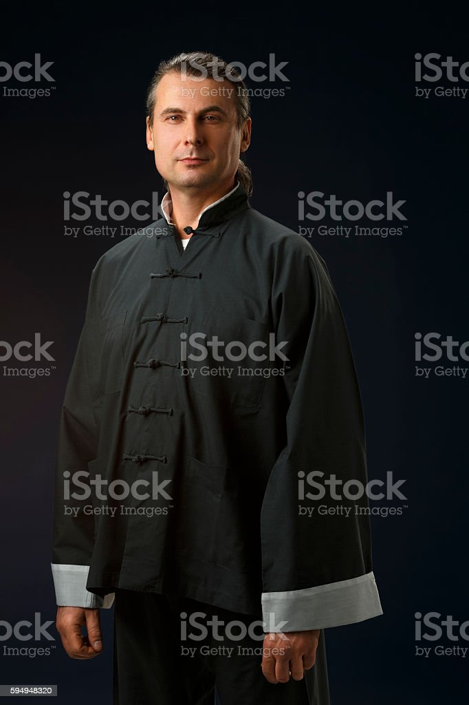 Tai Chi   Man  Studio portrait of man  Real people stock photo