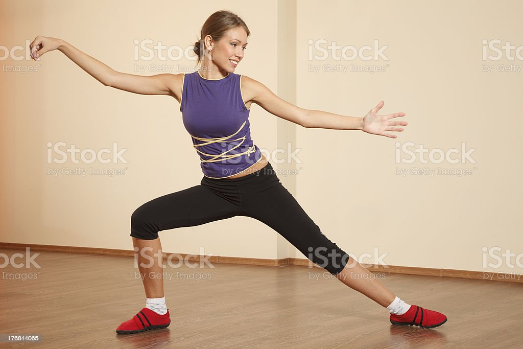Tai Chi practicing royalty-free stock photo