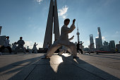 Tai Chi practitioners in the early morning