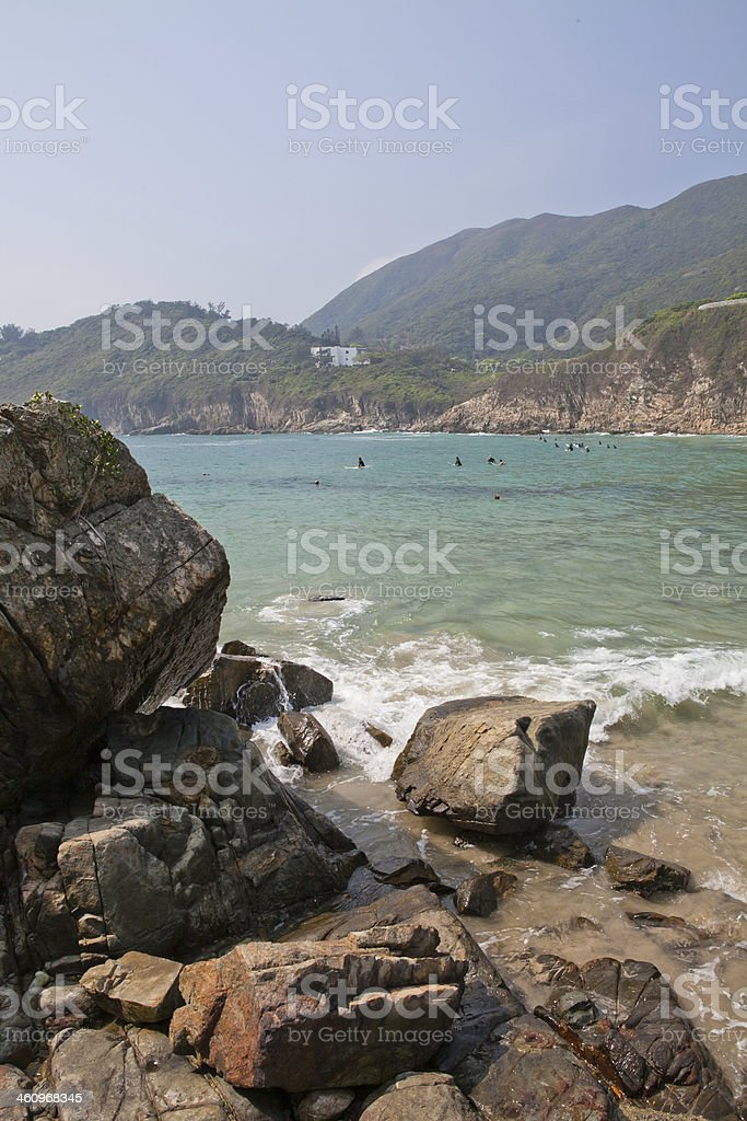 Tai Long Wan beach in Hong Kong royalty-free stock photo