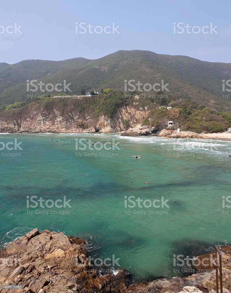 Tai Long Wan beach in Hong Kong royalty-free stock photo