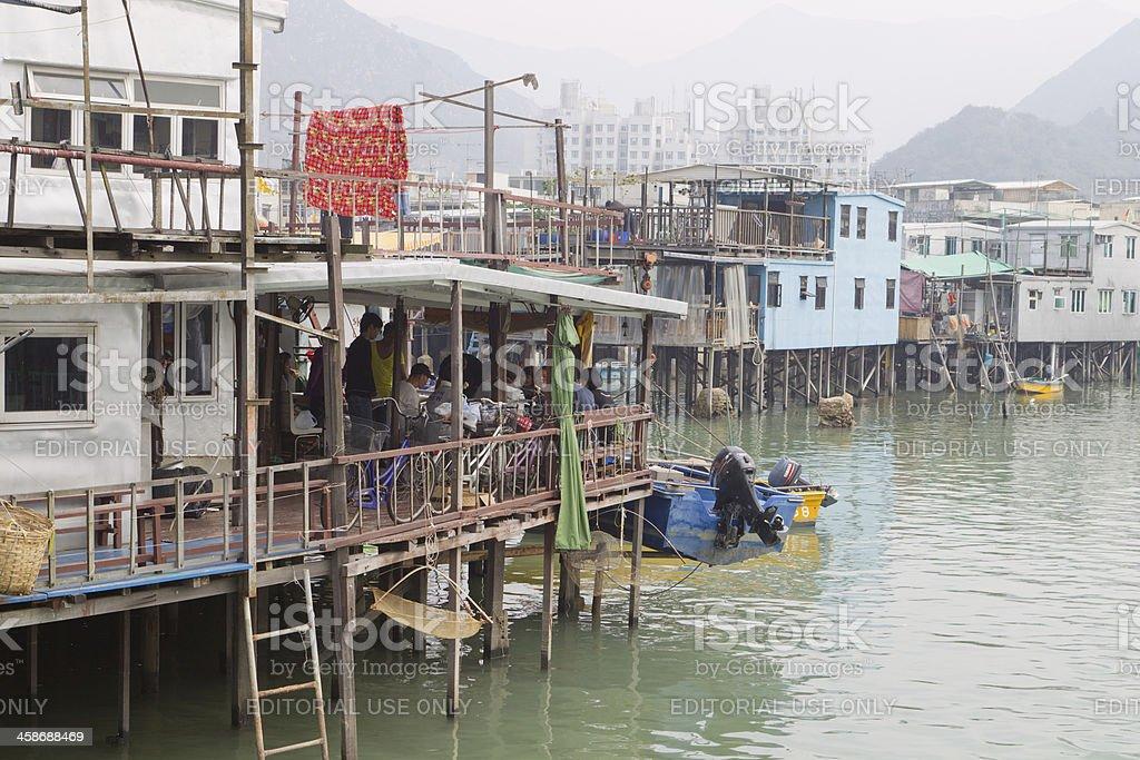 Tai O Fishing Town in Hong Kong royalty-free stock photo