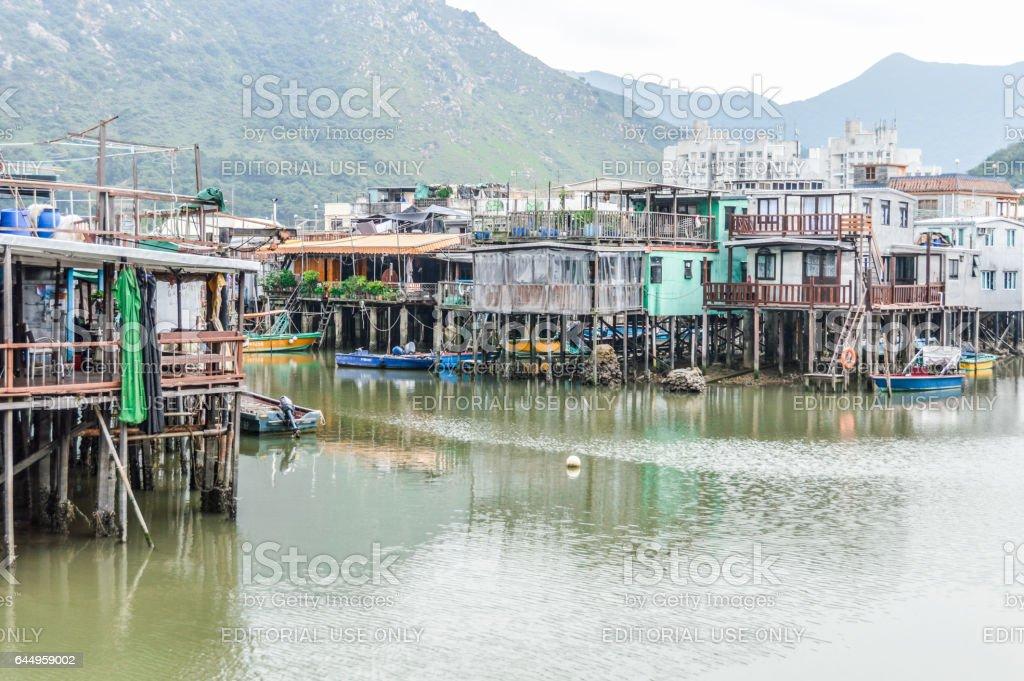 Tai O fishing village in Hong Kong stock photo
