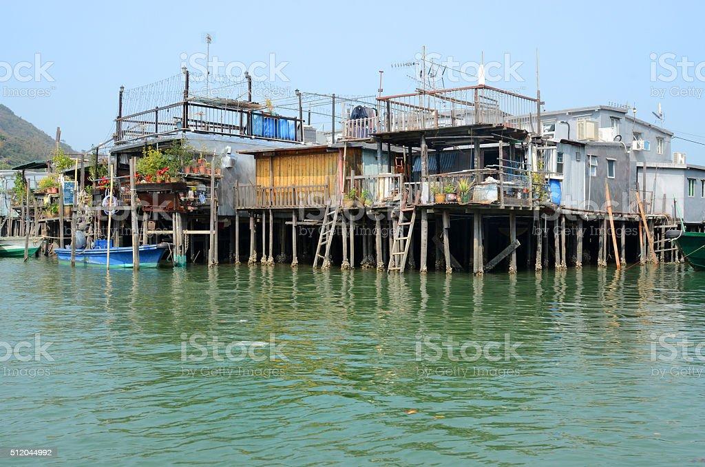 Tai O Fishing Village Stilts Houses, Hong Kong stock photo