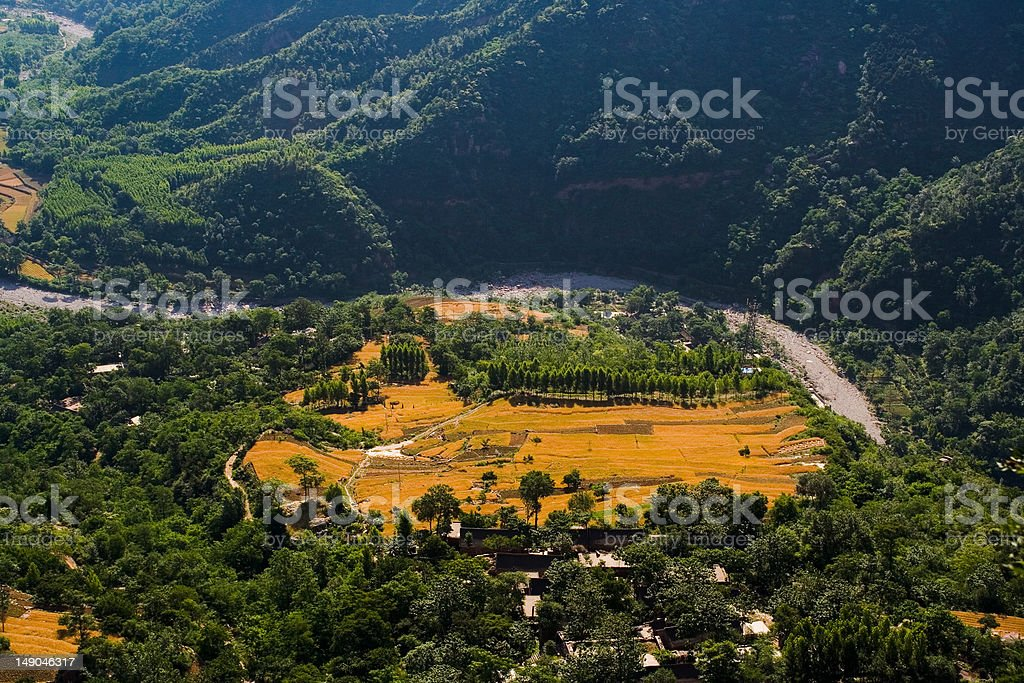 TaiHang valley at He nan, China royalty-free stock photo