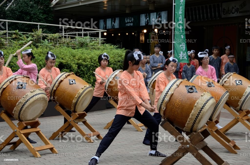 Taiko display stock photo