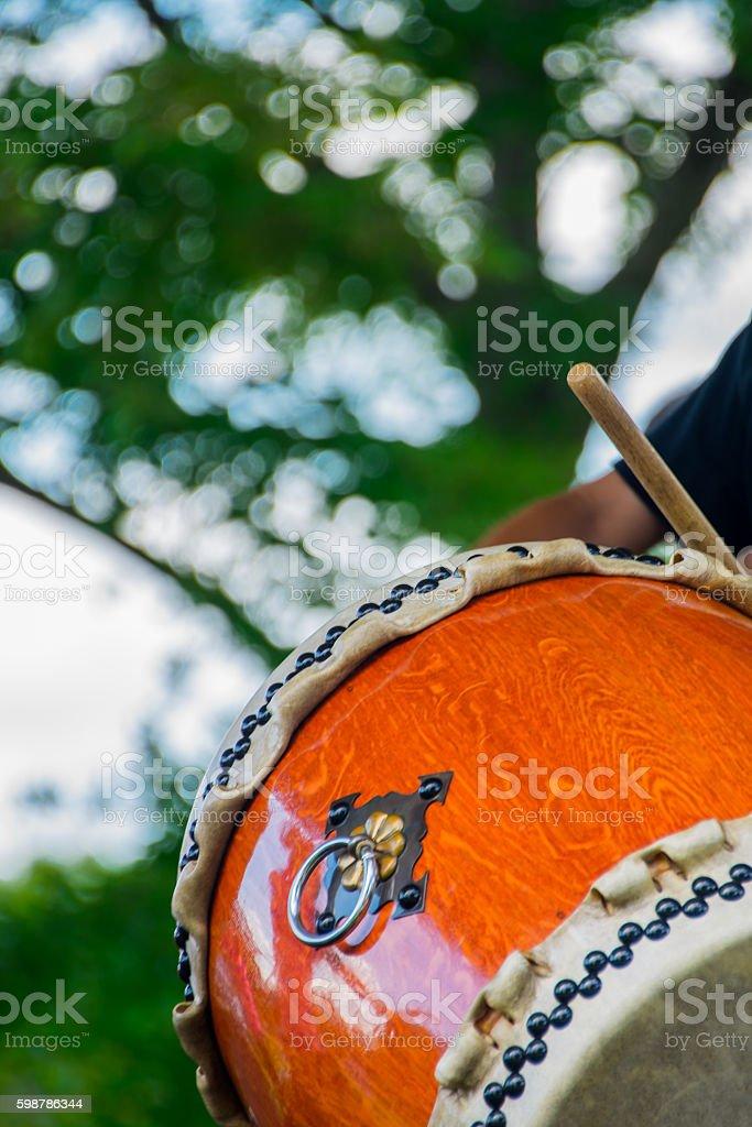 Taiko Drum - Vertical stock photo