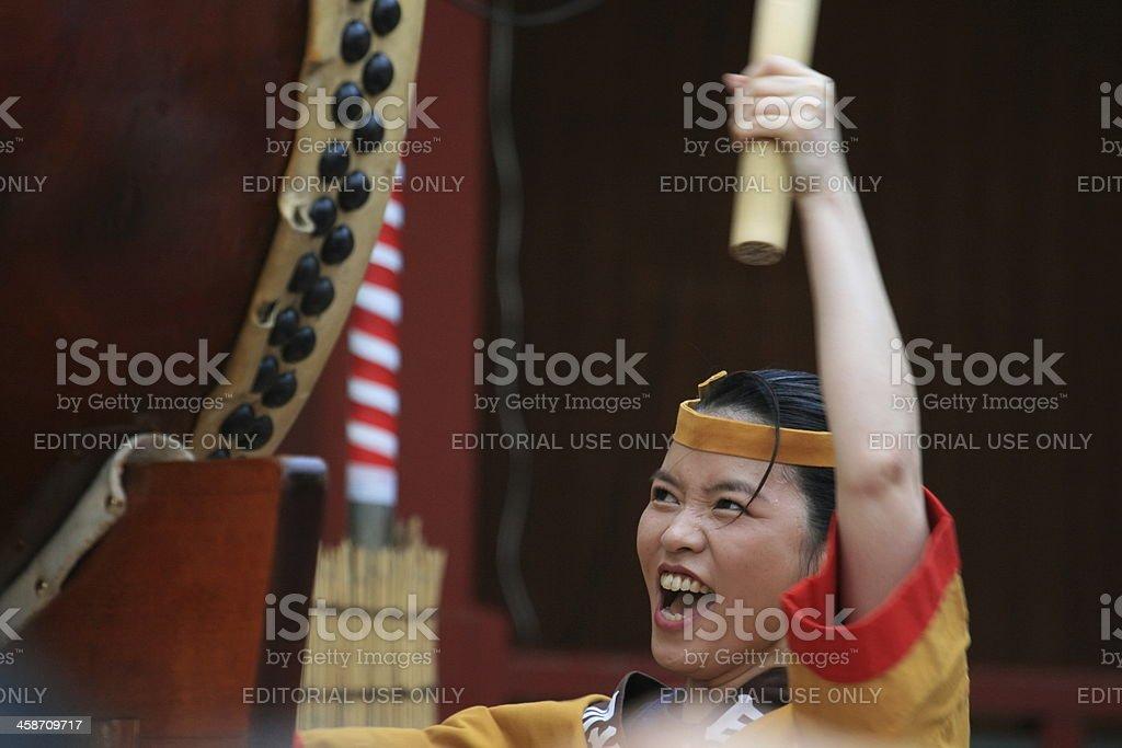 Taiko drummer stock photo