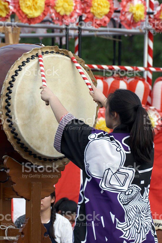 Taiko Drummer royalty-free stock photo