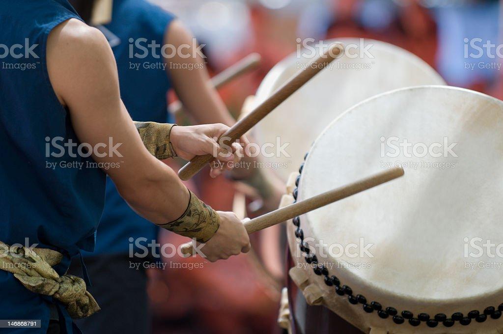 Taiko drummers stock photo