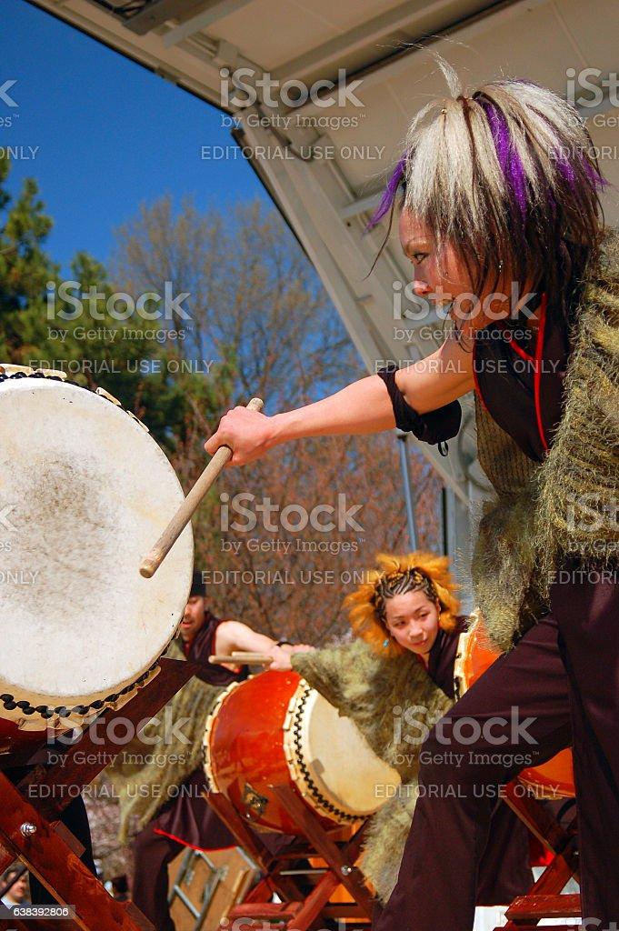 Taiko Drumming Demonstration stock photo