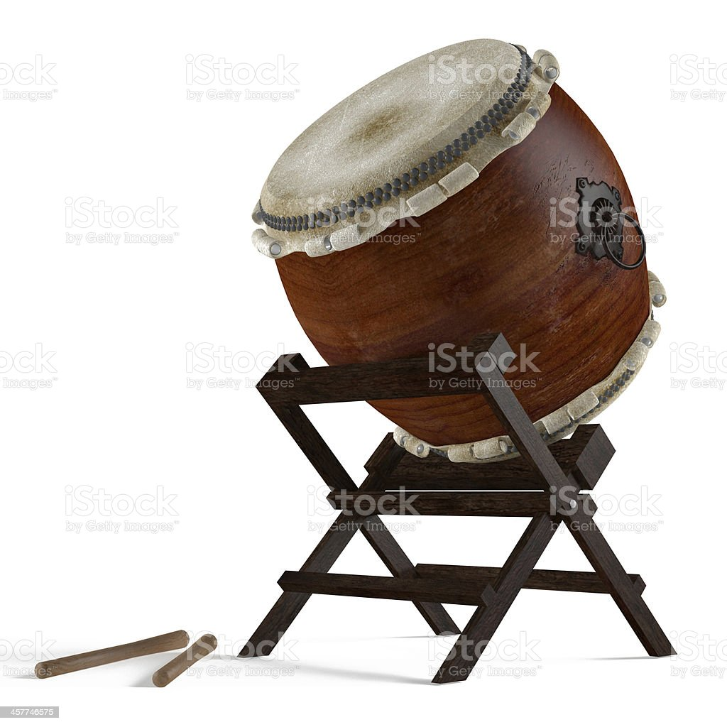 Taiko drums. Traditional Japanese instrument stock photo