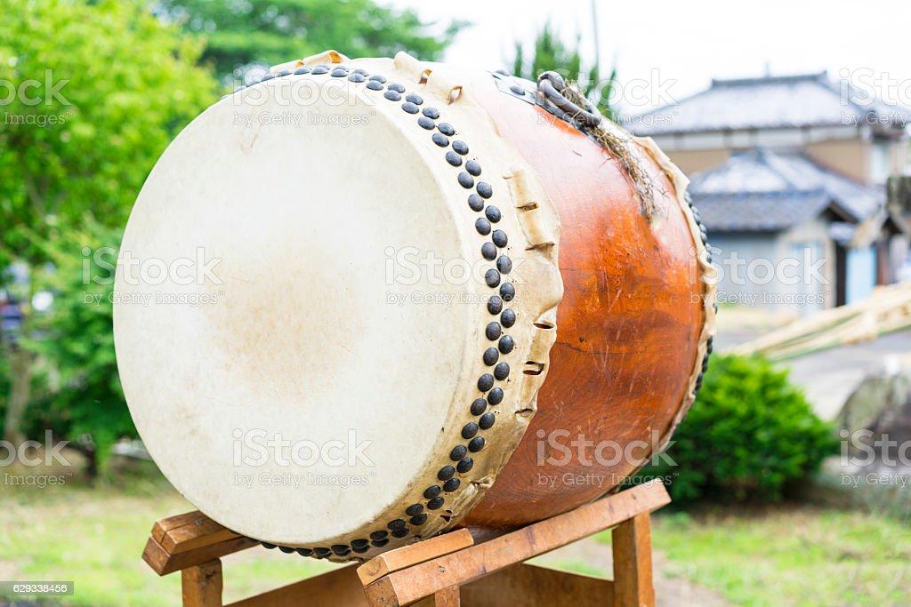 Taiko, traditional Japanese drum, Japan stock photo