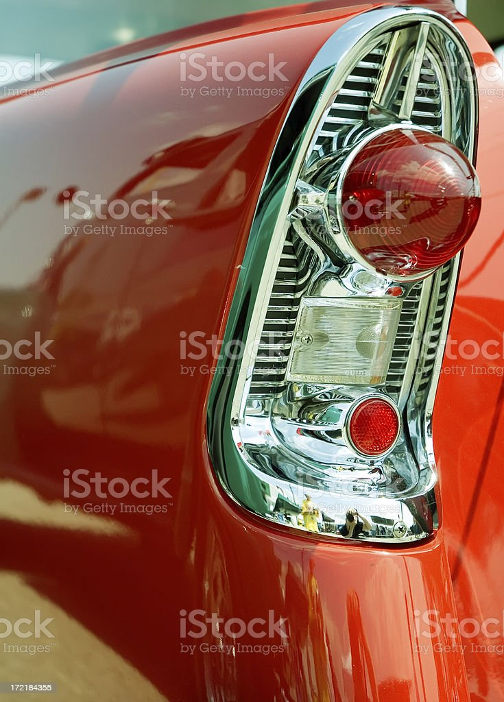Tail Fin in Red stock photo