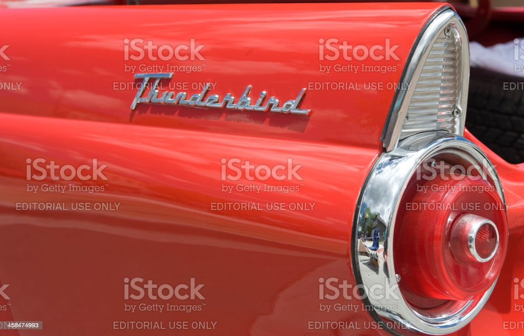 Tail Light on a 1955 Ford Thunderbird stock photo