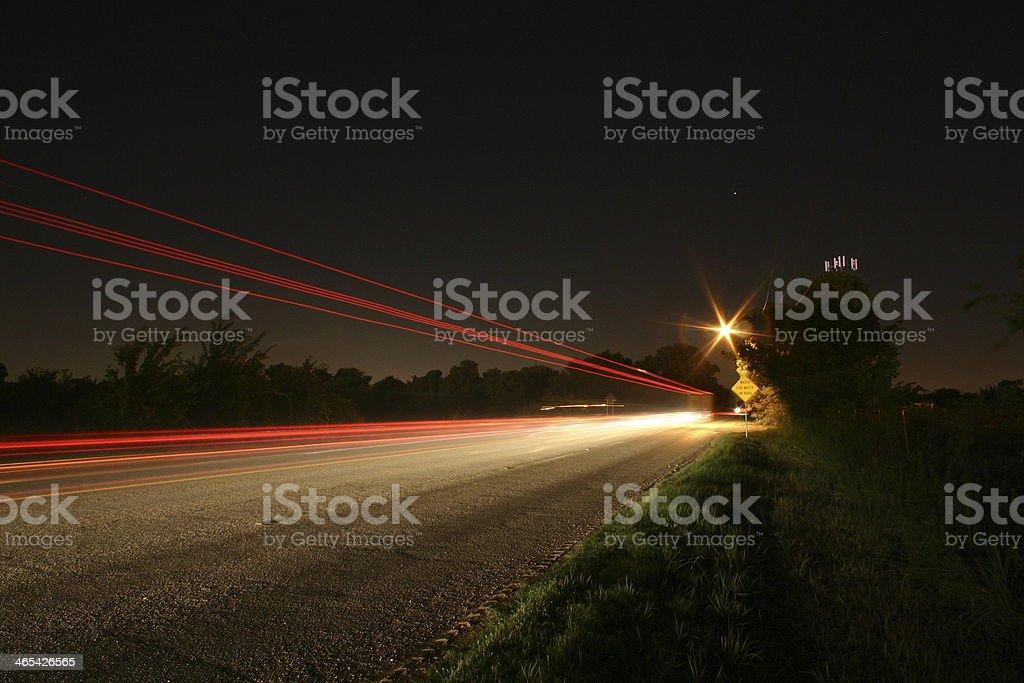 tail lights stock photo