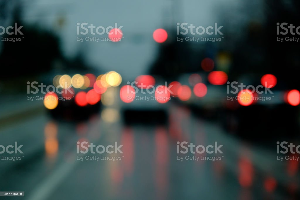 Tail Lights Soft Focus stock photo