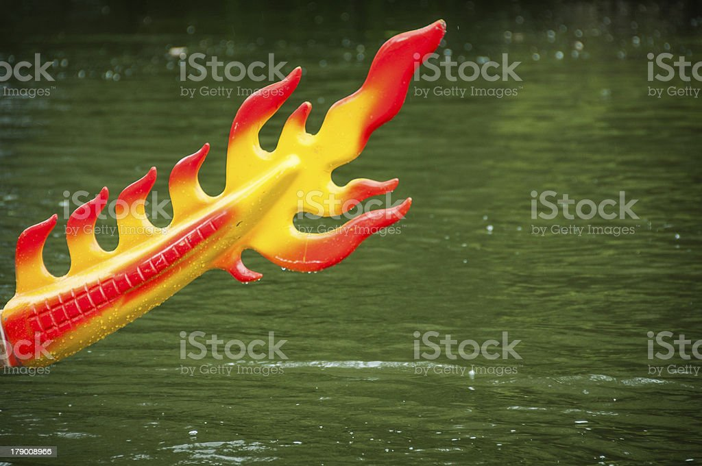 Tail of a dragon boat royalty-free stock photo