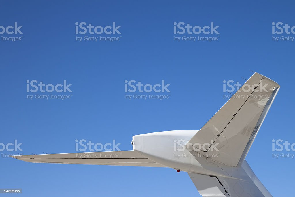 Tail Section of a Private Jet Airplane XL royalty-free stock photo