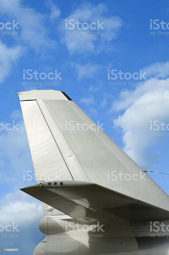 Tail section stock photo